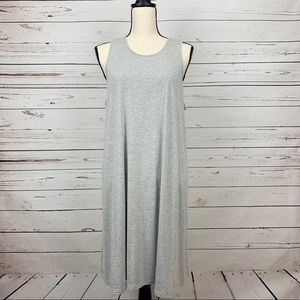 West Loop-Heather Grey Large Midi Dress